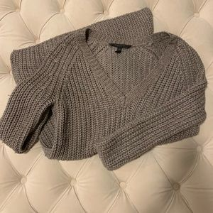 BCBG Taupe Knit Sweater (Size S)